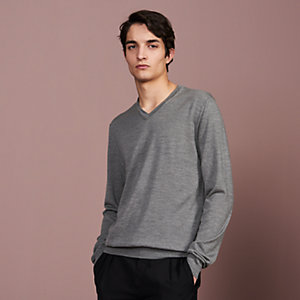 """Detail H"" V-neck sweater"