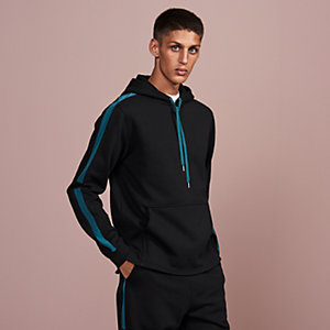 Hooded jogging sweater