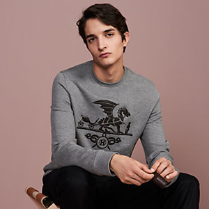 Sweat col rond « Ex-Libris Dragon »
