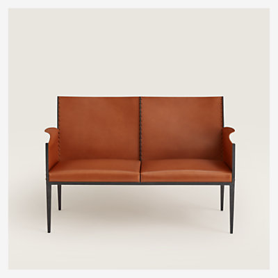 Reeditions J.-M. Frank par Hermes wrought iron bench -
