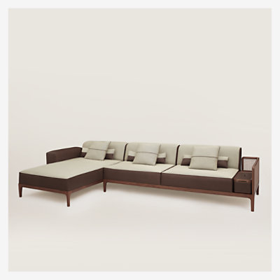 Sofa Sellier 2-seater with chaise lounge -