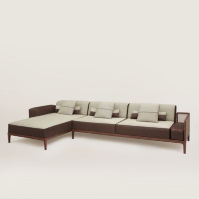 Sofa Sellier 2-seater with chaise lounge