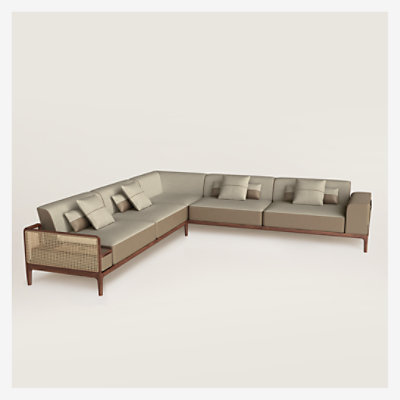 Sofa Sellier d'angle 5 places -