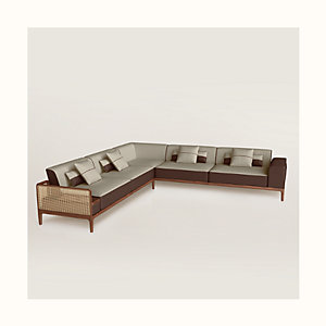 Sofa Sellier 5-seater corner
