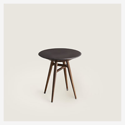 "Les Necessaires d'Hermes ""table a cachette"" stool-table, small model -"