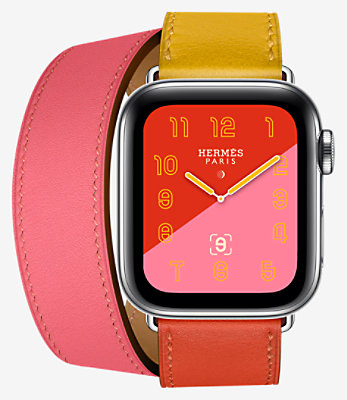 Apple Watch Hermès Series 4 Double Tour 40 mm - 1DT40CWWAMBRE_KIT-H0140001v00-H077064CJAA