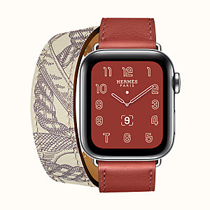 Gehäuse Series 5 & Armband Apple Watch Hermès Double Tour 40 mm