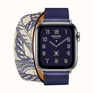 Cassa Series 5 e cinturino Apple Watch Hermès Double Tour 40 mm