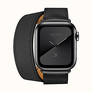 Apple Watch Hermès Series 5 Double Tour 40 mm Space Black