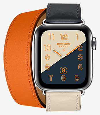 Apple Watch Hermès Series 4 Double Tour 40 mm - 1DT40UKCINDIGO_KIT-H1140001v00-H077064CJAC