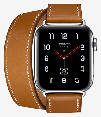 Apple Watch Hermès Series 4 Double Tour 40 mm - 1DT40UKFAUVE_KIT-H1140001v00-H074199CJ34