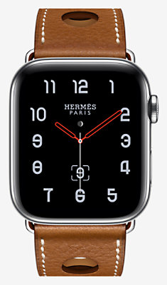 Apple Watch Hermès Series 4 Single Tour 44 mm Rallye - 1RA44WWFAUVE_KIT-H0240001v00-H077061CJ34
