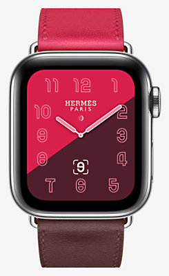 Apple Watch Hermès Series 4 Single Tour 40 mm - 1ST40CSEBORDEAUX_KIT-H4140001v00-H077062CJAB