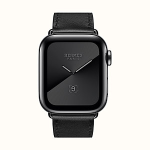 Boîtier Series 5 Noir Sidéral & Bracelet Apple Watch Hermès Simple Tour 40 mm
