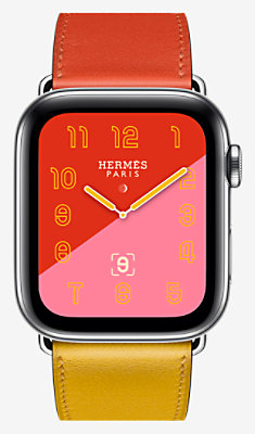 Apple Watch Hermès Series 4 Simple Tour 44 mm - 1ST44CWWAMBRE_KIT-H0240001v00-H077063CJAA