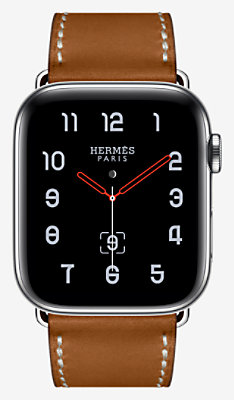 Apple Watch Hermès Series 4 Simple Tour 44 mm Boucle Déployante. - 1ST44DWWFAUVE_KIT-H0240001v00-H074198CJ34