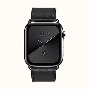 Cassa Series 5 Noir Sidéral e cinturino Apple Watch Hermès Simple Tour 44 mm