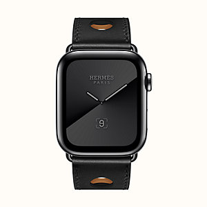 Caja Series 5 Space Black y correa Apple Watch Hermès Single Tour 44 mm Rallye