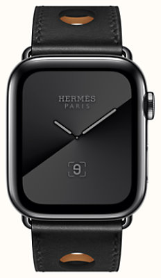 Space Black Series 5 case & Band Apple Watch Hermès Rallye Single Tour 44 mm
