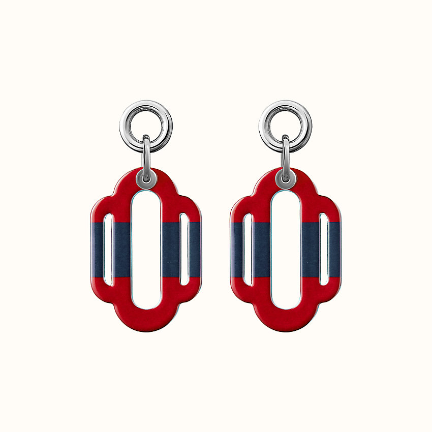 zoom image, Attelage solid enamel earrings