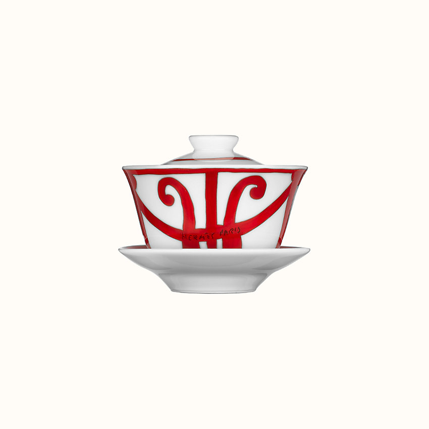 zoom image, Balcon du Guadalquivir tea cup with lid and saucer