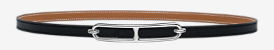 Roulis belt buckle & Reversible leather strap 13 mm -