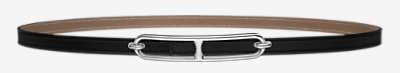 Mini belt buckle & Reversible leather strap 13 mm -