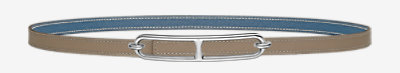 Mini Laquee belt buckle & Reversible leather strap 13 mm -