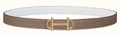 Gamma belt buckle & Reversible leather strap 24 mm