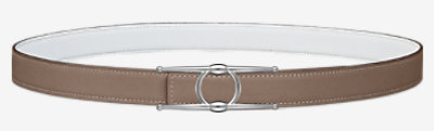 Collier de Chien belt buckle & Reversible leather strap 24 mm -