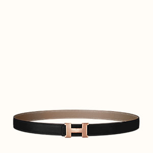 Mini Constance Martelee belt buckle & Reversible leather strap 24 mm