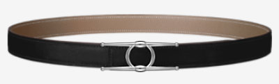Mini Constance Guillochee belt buckle & Reversible leather strap 24 mm -