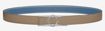 Mini Constance belt buckle & Reversible leather strap 24 mm -