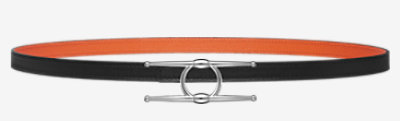 Collier de Chien belt buckle & Reversible leather strap 13 mm -
