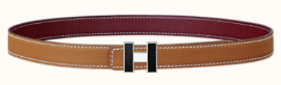 H or Not belt buckle & Sellier reversible leather strap 24 mm