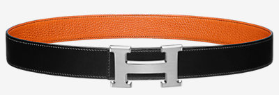Gamma 32 belt buckle & Reversible leather strap -