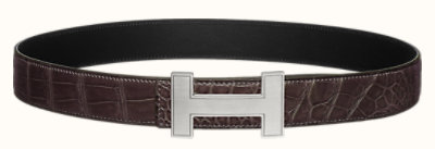 Quizz belt buckle & Leather strap 32 mm