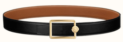 Oscar buckle & Reversible leather strap 32 mm