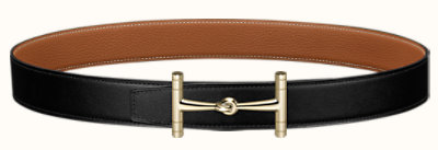 H Hippique belt buckle & Reversible leather strap 32 mm
