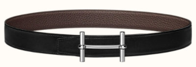 H d'Ancre belt buckle & Reversible leather strap 32 mm