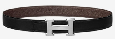 H Rouleau belt buckle & Reversible leather strap -