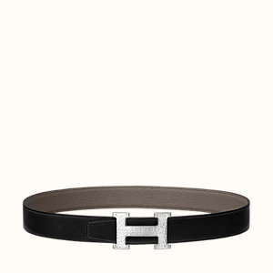 H Martelee belt buckle & Reversible leather strap 32 mm