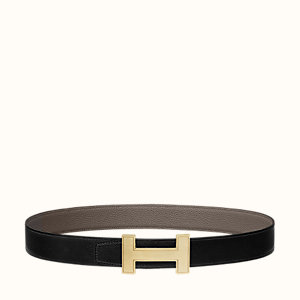 Quizz belt buckle & Reversible leather strap 32 mm