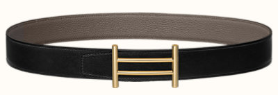 Rider belt buckle & Reversible leather strap 32 mm
