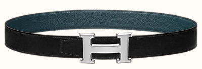 H belt buckle & Reversible leather strap 32 mm