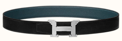 Pegase belt buckle & Reversible leather strap 32 mm