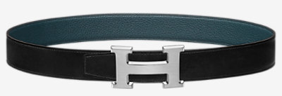 Quizz belt buckle & Reversible leather strap 32 mm -