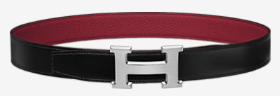 Collier de Chien belt buckle & Reversible leather strap 32 mm -