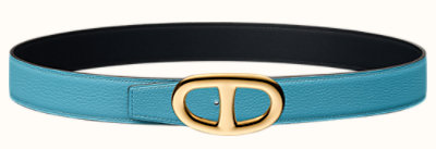 Chaîne d'Ancre belt buckle & Reversible leather strap 32 mm