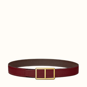 Officier buckle & Reversible leather strap 32 mm